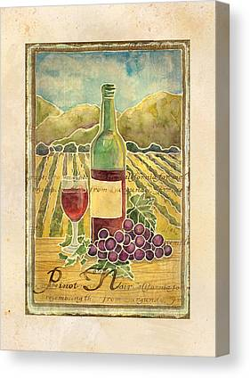 Vine Grapes Mixed Media Canvas Prints