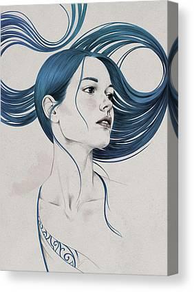 Hair Drawing Canvas Prints