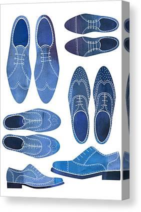 Men Shoes Canvas Prints