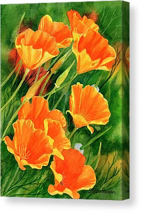 California Poppy Canvas Prints