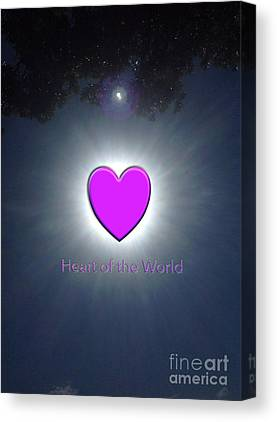 Brightness Of The Heart Canvas Prints