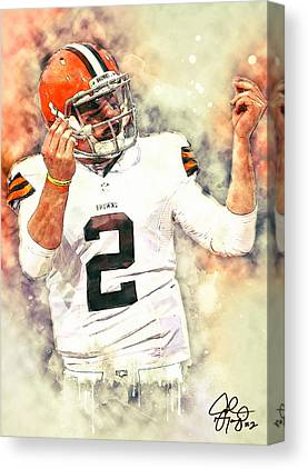 Johnny Manziel Canvas Prints