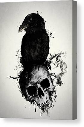 Skull Mixed Media Canvas Prints