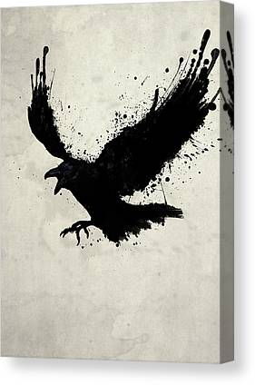 Raven Canvas Prints