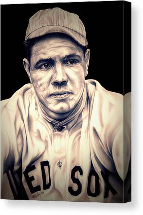 Babe Ruth Drawings Canvas Prints