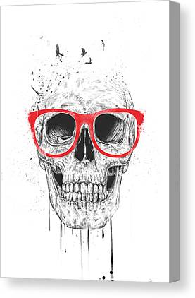 Red Skull Canvas Prints