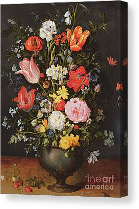 Still Life With Daffodils Canvas Prints