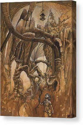 Cavern Drawings Canvas Prints