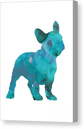 Abstract Dog Canvas Prints