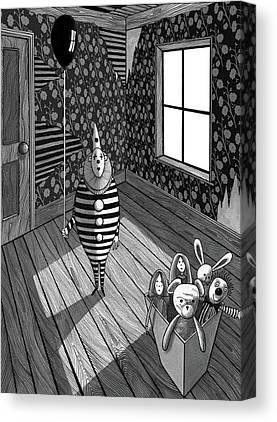Light And Dark Mixed Media Canvas Prints