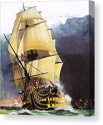 Pirate Ships Drawings Canvas Prints