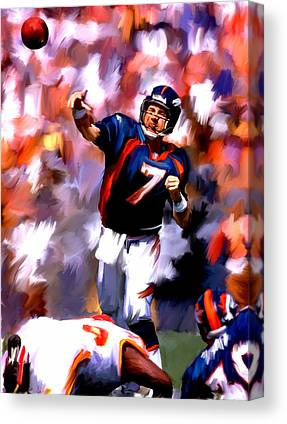 John Elway Collectibles Canvas Prints