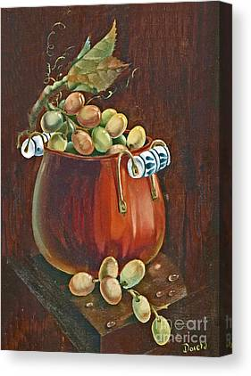 Old Plank Tables Paintings Canvas Prints