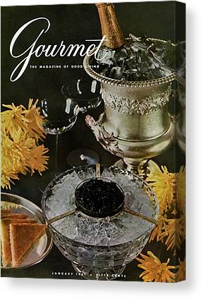 Wine Magazine Art Canvas Prints