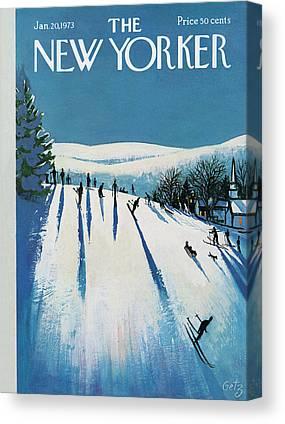 Skier Canvas Prints