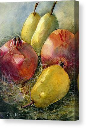Pomegranates Canvas Prints