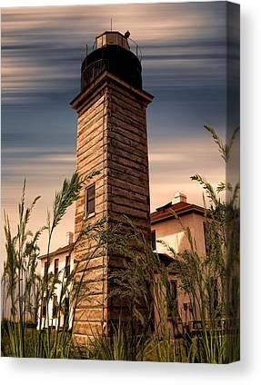 New England Lighthouse Digital Art Canvas Prints