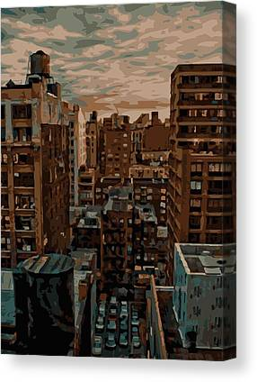 Rooftop View In New York Canvas Prints