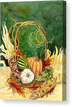 Grapevine Autumn Leaf Canvas Prints