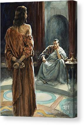 Christ In Front Of Pontius Pilate Canvas Prints