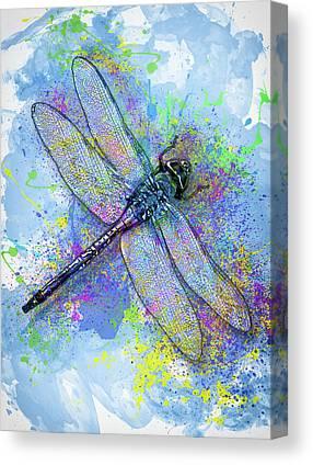 Larva Mixed Media Canvas Prints