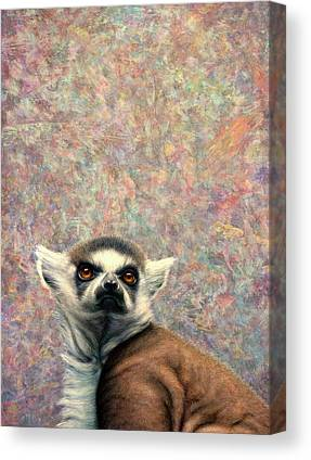 Ring-tailed Lemur Paintings Canvas Prints