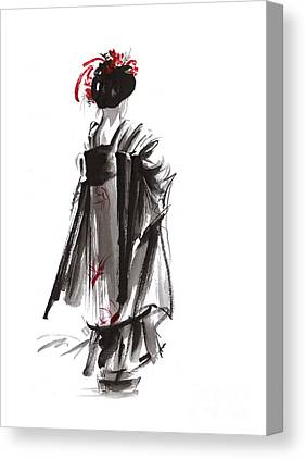 Geisha Canvas Prints