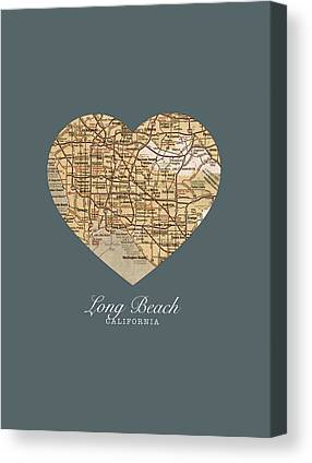 Long Street Mixed Media Canvas Prints