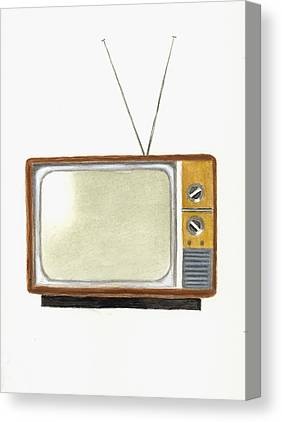 Television Paintings Canvas Prints