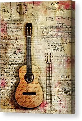 Classical Guitars Canvas Prints
