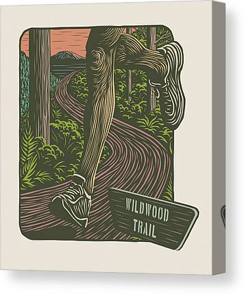 Woodcut Canvas Prints