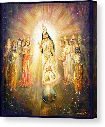 Goddess Durga Mixed Media Canvas Prints