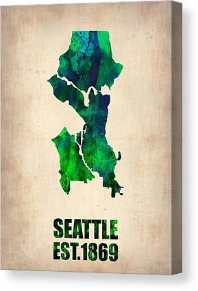 Seattle Digital Art Canvas Prints