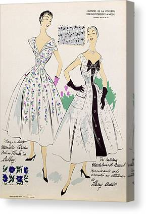 Fashion Plate Drawings Canvas Prints