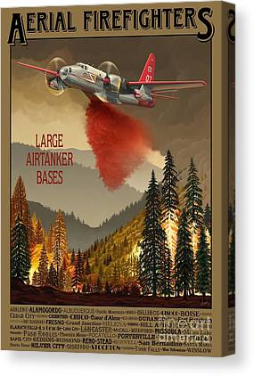 Wildfires Canvas Prints
