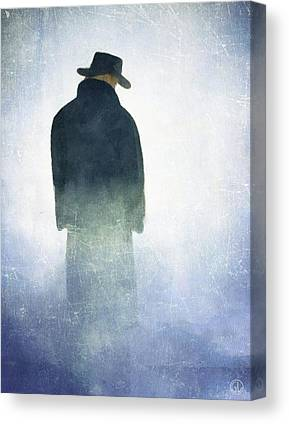 Man Standing In The Fog Canvas Prints