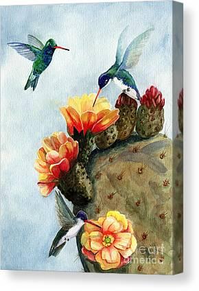 Prickly Pear Cactus Canvas Prints
