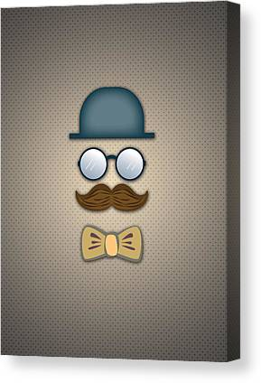 Moustache Canvas Prints