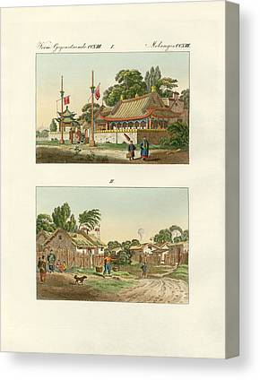 Asien Drawings Canvas Prints