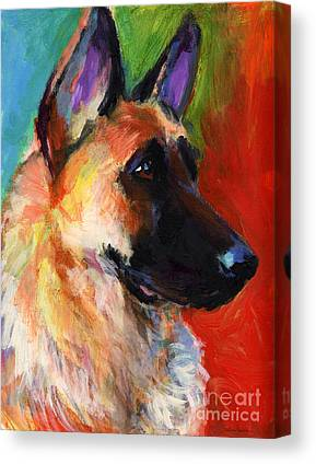 German Shepherd Canvas Prints