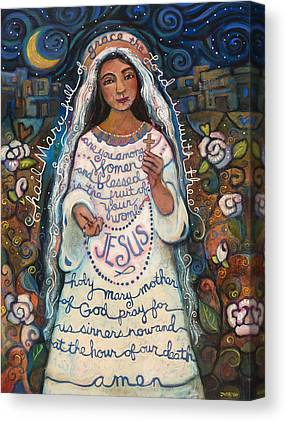 Virgin Mary Canvas Prints