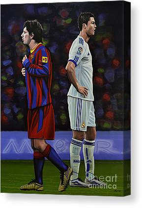 Lionel Messi Canvas Prints