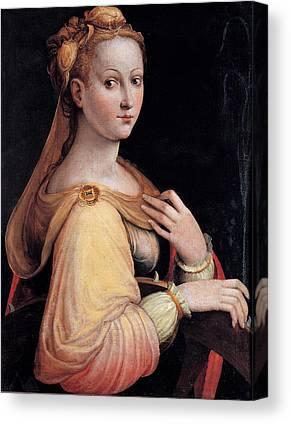 Portrait Saint Barbara Canvas Prints