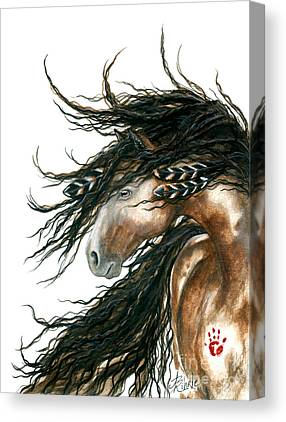Pinto Horse Canvas Prints