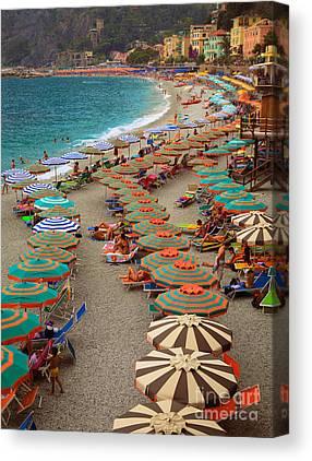 Beach Umbrellas Canvas Prints