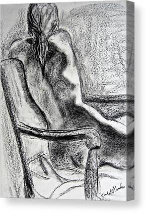 Seated Nude Drawing Canvas Prints