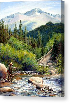 Colorado Fly Fishing River Canvas Prints