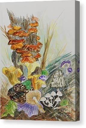 Shrooms Mixed Media Canvas Prints