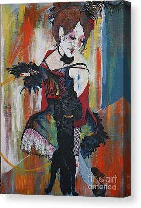 Show Girl Mixed Media Canvas Prints