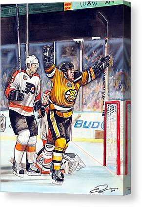 Nhl Winter Classic 2010 Drawings Canvas Prints